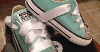 Hey, I found this really awesome Etsy listing at https://www.etsy.com/listing/180048175/mint-disney-mickey-mouse-bling-converse