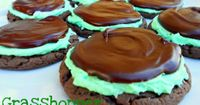 Grasshopper Mint Chocolate Cake Mix Cookies- perfect for St. Patrick's Day!
