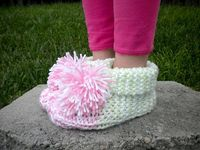 Ravelry: Favorite Cuffed Slippers by Janet Jameson