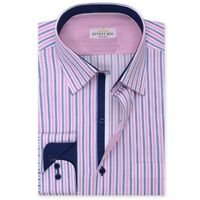 Create a stylish look with this Oxford Men Magenta White stripe dress shirt. Woven in Egyptian cotton this dress shirt has a fine finish.  �€� 100% Superfine Egyptian Cotton  �€� Classic collar  �€� French cuff  �€� Oxf...