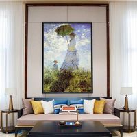 Claude Monet Umbrella woman oil painting on canvas Art Reproduction Wall Pictures Home Decor Wall art in Museum Quality cuadros abstractos $159.00