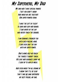 I caught this moment the other day which inspired me to write this My Superhero, My Dad Poem and Printable.