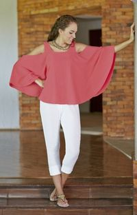 Gauze Cotton Batwing Top, $46.00, https://kollekcio.com