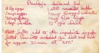 """Pawley's Island Pie �€�2 large Eggs �€�1 cup Sugar �€�½ cup Flour �€�1 tsp. Vanilla Extract �€�1 stick Unsalted Butter �€�1 cup Chopped Walnuts �€�1 cup Chocolate Chips �€�10"""" Pie Shell�– Melt..."""