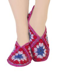 Handmade women shoes, as 40th birthday gift for mother in law, cozy boho wool slippers. Slippers size 7 8 9 $35.00