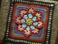 Ravelry: JulieAnny's Stained Glass Afghan Square pattern by Julie Yeager-free pattern-isn't it gorgeous?!