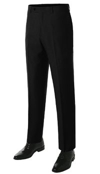 MONDAYSUIT Men's Modern Fit Solid 2-Piece Suit BLACK Blazer & Trousers 1 $94.99