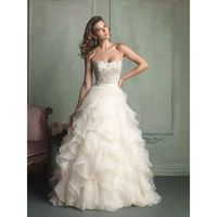 Ivory/Silver Allure Bridals 9110 Allure Bridal - Rich Your Wedding Day