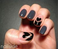 Love is at your fingertips. Check out 25 pretty nail designs to try for Valentine's Day...