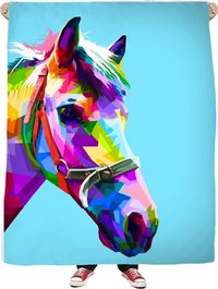 ROFB Horse Colors Fleece Blanket $65.00