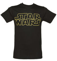 Mens Black Star Wars Logo T-Shirt The beginning fanfare of the original Star Wars is an iconic moment is cinema history. The Star Wars logo combined with John Williams score got every heart racing for the action and adventure in the f http://www.comparest...