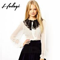 Must-have Vogue Sexy Seen Through Split Front Solid Color Tulle Fall 9/10 Sleeves Chiffon Top - Bonny YZOZO Boutique Store