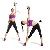 Just crunches won't flatten your belly....gotta work out the whole core. This has 4 exercises that take 15 mins total.
