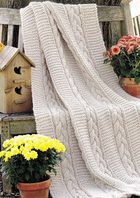 Blanket pattern PDF Instant Download Afghan knitted blanket cable throw knitting supplies