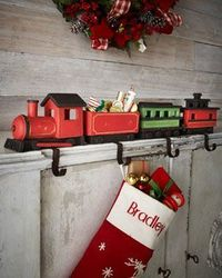 H7AEY Four Train Christmas Stocking Hooks