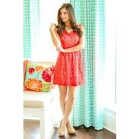 Under Candlelight Dress-Deep Coral - $49.00