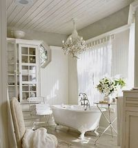 I love this claw foot tub. I could spend hours in here pampering and relaxing...