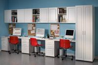 Would be a neat way to set up homework stations for kids so they each had their own area- wish I had the room.