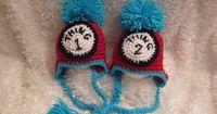 Toddler Crochet Thing 1 and Thing 2 Hats Photo by crochet2love1