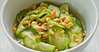 Thai Style Cucumber Salad...other than the slicing...easy, good and would be great for summer BBQing