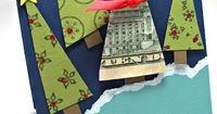 what a cute way to give money. rather than stuffing money in the card, turn it into a Christmas tree