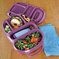 LOVE THESE.. Everything stays separate in one container Goodbyn Smart Lunch Box, Sectioned Lunch Container