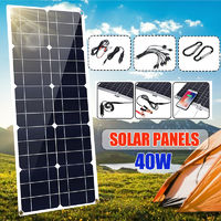 200W Flexible Solar Panel USB Monocrystalline Connecter Battery Charger For Camping Hiking Climbing Cycling