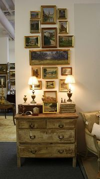pretty group of vintage French paintings