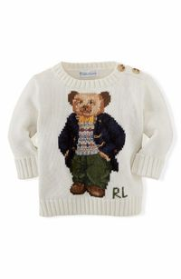 Adore the vintage look of this Ralph Lauren baby sweater.