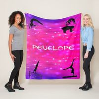 Gymnastics Events Personalized Blanket for Gymnast - Choose from 4 colors