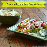 Avocado Lemon Feta Yogurt Dip
