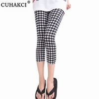 $3.62 Alixpress CUHAKCI Printing Pants Women High Quality Capris High Waisted Floral Lady's Fitness Leggings Seventh Elastic Slim Short Leggings. Buy it from Aliexpress.com