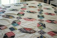 Quilt using two block designs....free tutorial