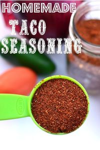 Mix up a bulk batch of this Homemade Taco Seasoning!