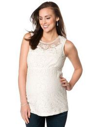 <li>maternity blouse <li>sleeveless <li>scoop neck <li>empire waist <li>lace <li>nylon <li>lace <li>hand wash <li>imported