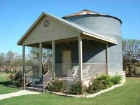 grain bin turned one bed apartment. just had topostas I might need a place to stick the husband someday. haha