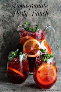 Pomegranate Party Punch | Cravings of a Lunatic