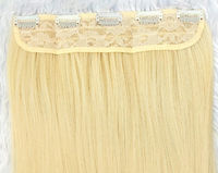 Human hair free shipping from US  New 24 inches Curly synthetic hair extensions -Weight: 140g -One pack, 8 pcs, cover 3/4 full head -Color: Purple -High temperature resistant -Able to be straightened -Free shipping in U.S. -Please comb the hair till its...