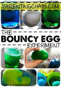 Bouncy Egg Experiment: Did you know that you could make an egg bounce? Try the Bouncy Egg science experiment and see how it works!