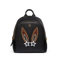 MCM Mini Polke Star Bunny Studs Backpack In Black