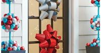 The frosty blues and silvers are warmed up by bright, festive red in these outdoor Christmas decorations from The North Pole Collection by Martha Stewart Living. It's a fun, whimsical look for the holiday season. The Home Depot has string lights, garl...