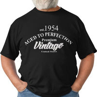 Aged To Perfection Vintage 60th Birthday Gift Custom Tshirt Gift For Her Christmas Gift For Him Grandma 70th Birthday $23.08