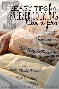 If you have never tried freezer cooking before, let me just start by telling you that there is almost nothing in life quite as satisfying as knowing you have a
