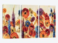 Joyful Garden by Silvia Vassileva 3-piece Canvas Art