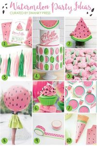 The best way to welcome summer? Have a watermelon party! Whether for a backyard barbecue or your little sweetie's 2nd birthday, we've gathered together ideas to