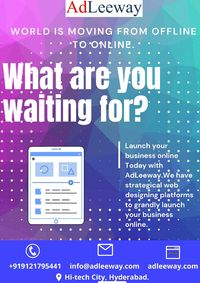 Adleeway.com is a well creative IT solutions Company helps in launching your business online and creating absolute amazing websites .