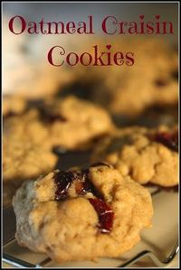 Best Oatmeal Cookies with Craisins