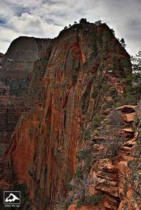 Angels Landing - Zion National Park, Utah. Yes. it's as scary as it looks. Here in 2012