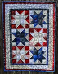 """Katie's Quilts and Crafts: FIREWORK STARS - Free Quilt Tutorial - Made with all 2.5"""" Strips!"""