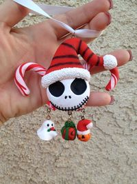 Nightmare Before Christmas Clay Ornament by GeorgiaPeachDes, $15.00